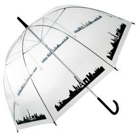 Dámský průhledný deštník panorama Paříž