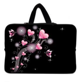 """Huado taška na notebook do 15.6"""" Růžové srdíčka"""