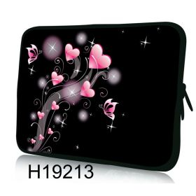 """Huado pouzdro na notebook 12.1"""" Růžové srdíčka"""
