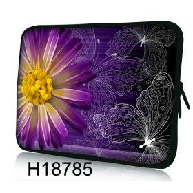 """Huado pouzdro na notebook 17.4"""" Gerbera a motýlci"""
