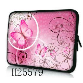 """Huado pouzdro na notebook 17.4"""" Motýlek růžový"""