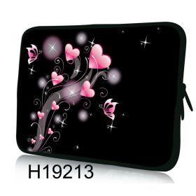 """Huado pouzdro na notebook 13.3"""" Růžové srdíčka"""