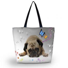 Huado nákupní a plážová taška - Mops