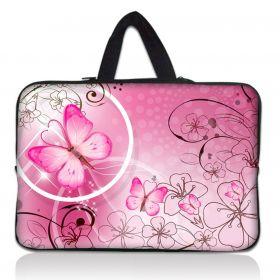 """Huado taška na notebook do 15.6"""" Motýlek růžový"""