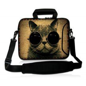 """Huado taška přes rameno 15.6"""" Kočka s brýlemi"""