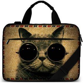 """Huado brašna přes rameno 15.6"""" Kočka s brýlemi"""