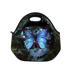 Huado termotaška z neoprénu- Hodiny a motýl