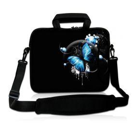 """Huado taška přes rameno 15.6"""" Modrý motýl"""