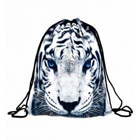 Plátěný vak s 3D potiskem Bílý tygr