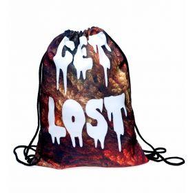 Plátěný vak s 3D potiskem Get Lost