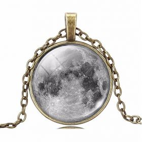 Vintage řetízek s přívěškem Moon úplněk