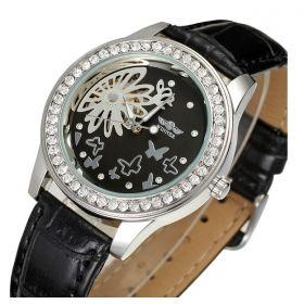 Dámské hodinky Winner Flower- černé