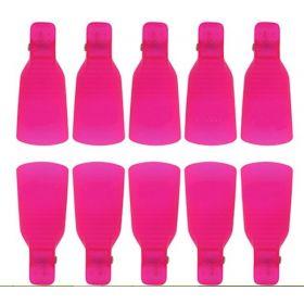 Klipy k odstranění gel laku 10 ks pink