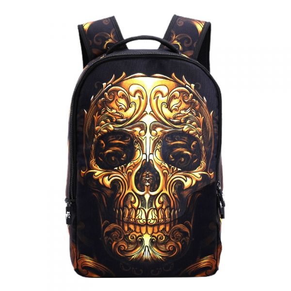 448072ac788 Who Cares batoh 22 l Gold skull - foxstyle.cz