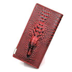 Dámská peněženka Crocodile 3D červená
