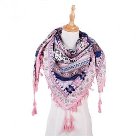Tassel dámský šátek růžová 130 cm