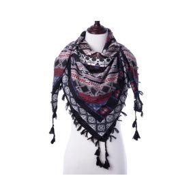 Tassel dámský šátek černý 130 cm