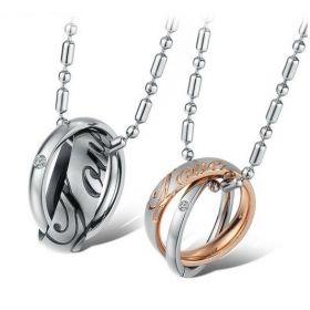 Ocelové přívěsky pro dvojici LOVE RINGS
