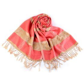 Dámská Šála s ornamenty 180 cm Růžová