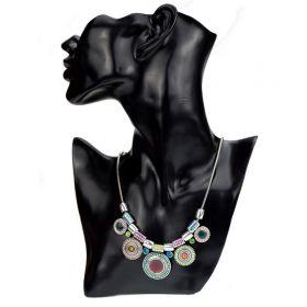 Masívní náhrdelník kruhový Afro