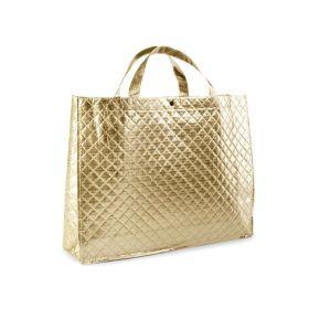 Zlatá lesklá metalická taška 42 x 32 cm