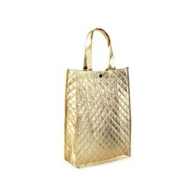 Zlatá lesklá metalická taška 33 x 23 cm