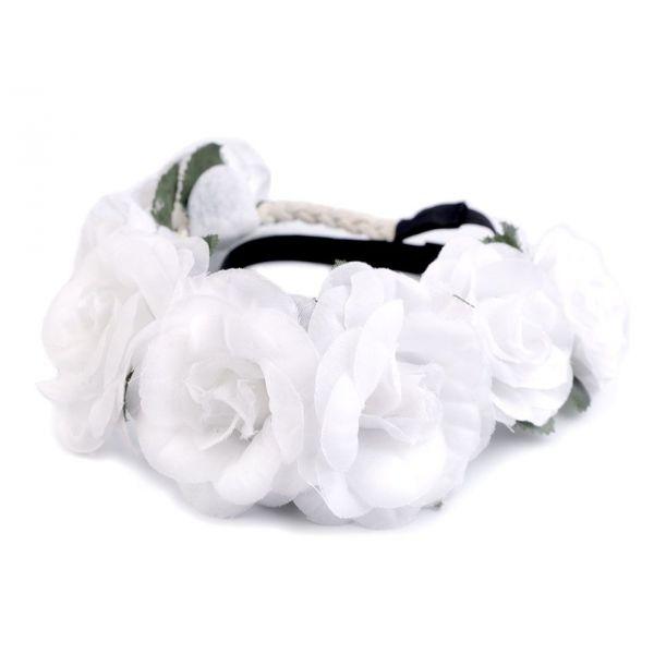 ... čelenka do vlasů Bílé růže. Zobrazit maximální velikost d311b06d15