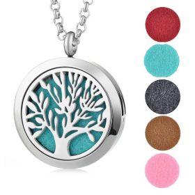 Ocelový náhrdelník Strom života v pěti barvách