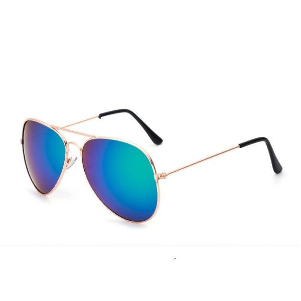 4cc0f8793 ... UNISEX>Sluneční brýle pilotky modro-zelené zrcadlové zlaté. Zobrazit  maximální velikost