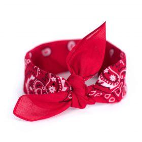 Bavlněný šátek Bandana Červený