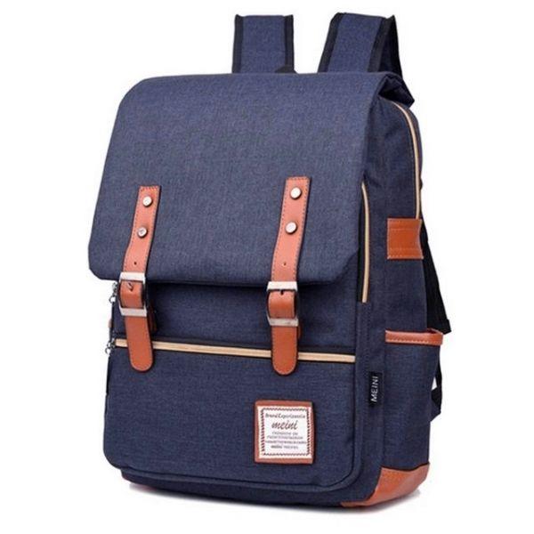 a04b35ffe6 RETRO Textilní batoh Mein Tmavě modrý - foxstyle.cz