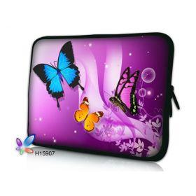 "Huado pouzdro na notebook 10.2"" Motýlci ve fialové"
