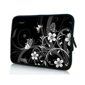 """Huado pouzdro na notebook 12.1"""" Květiny a motýlci"""