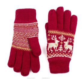 ArtOfPolo Unisex rukavice se soby Červené