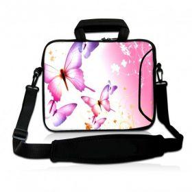 """Huado taška přes rameno 15.6"""" Růžový motýlci"""