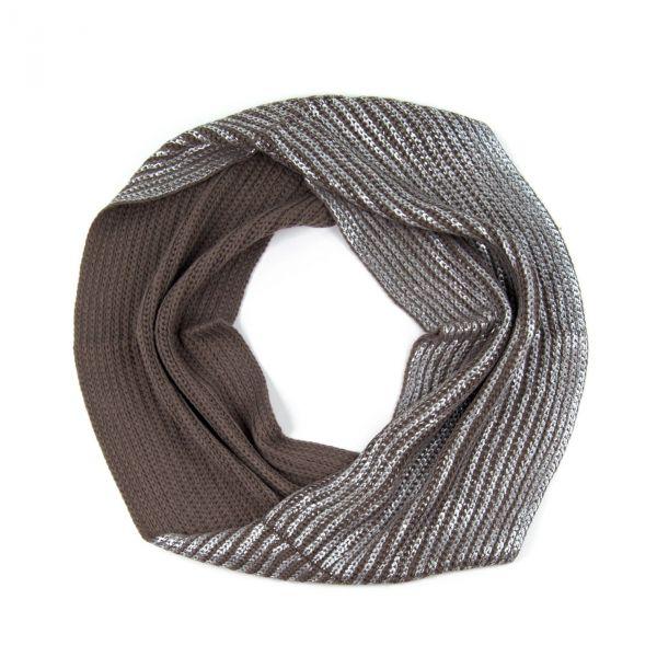 5905aa4275d ArtOfPolo kruhový pletený šál komín Silver - foxstyle.cz