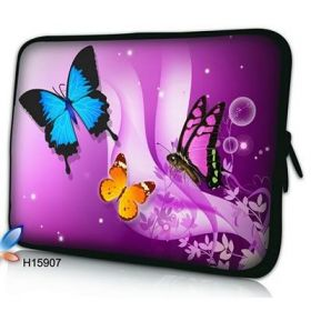 "Huado pouzdro na notebook 17.4"" Motýlci ve fialové"