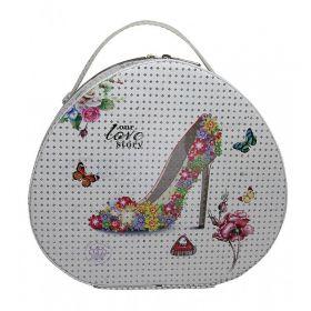 BMD kosmetický kufřík Ovál s krystaly Love to Story