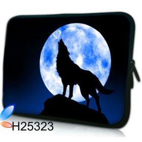 """Huado pouzdro na notebook 17.4"""" Vlk vyjící na měsíc"""