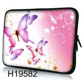 """Huado pouzdro na notebook 17.4"""" Růžový motýlci"""