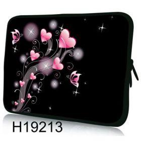 """Huado pouzdro na notebook 17.4"""" Růžové srdíčka"""