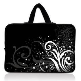 """Huado taška na notebook do 13.3"""" Floral black & white"""