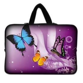 "Huado taška na notebook do 13.3"" Motýlci ve fialové"