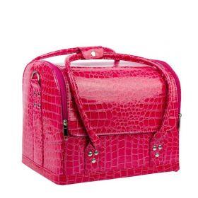 Luxusní taška pro kosmetiku MODEL 01 Růžový krokodýl