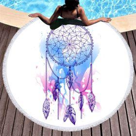 Kruhová plážová osuška Boho Lapač snů