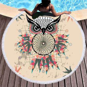 Kruhová plážová osuška Sovička