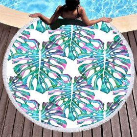 Kruhová plážová osuška Listy