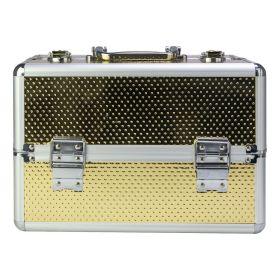 Kosmetický kufřík M pro laky i led lampu Zlatý