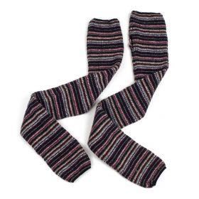 Dlouhé vlněné rukavice bez prstů Multicolor