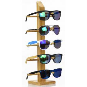 Dřevěný stojan na sluneční brýle Bambus